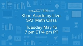 Join our live SAT math class