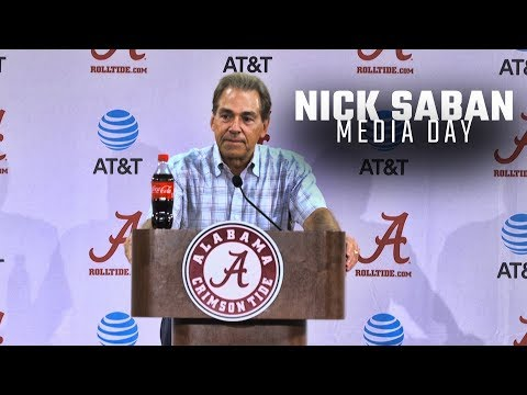 Watch Nick Saban address the press at Alabama's Media Day
