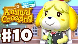 Isabelle  - (Animal Crossing) - Isabelle Arrives! Resident Services! - Animal Crossing: New Horizons - Gameplay Walkthrough Part 10