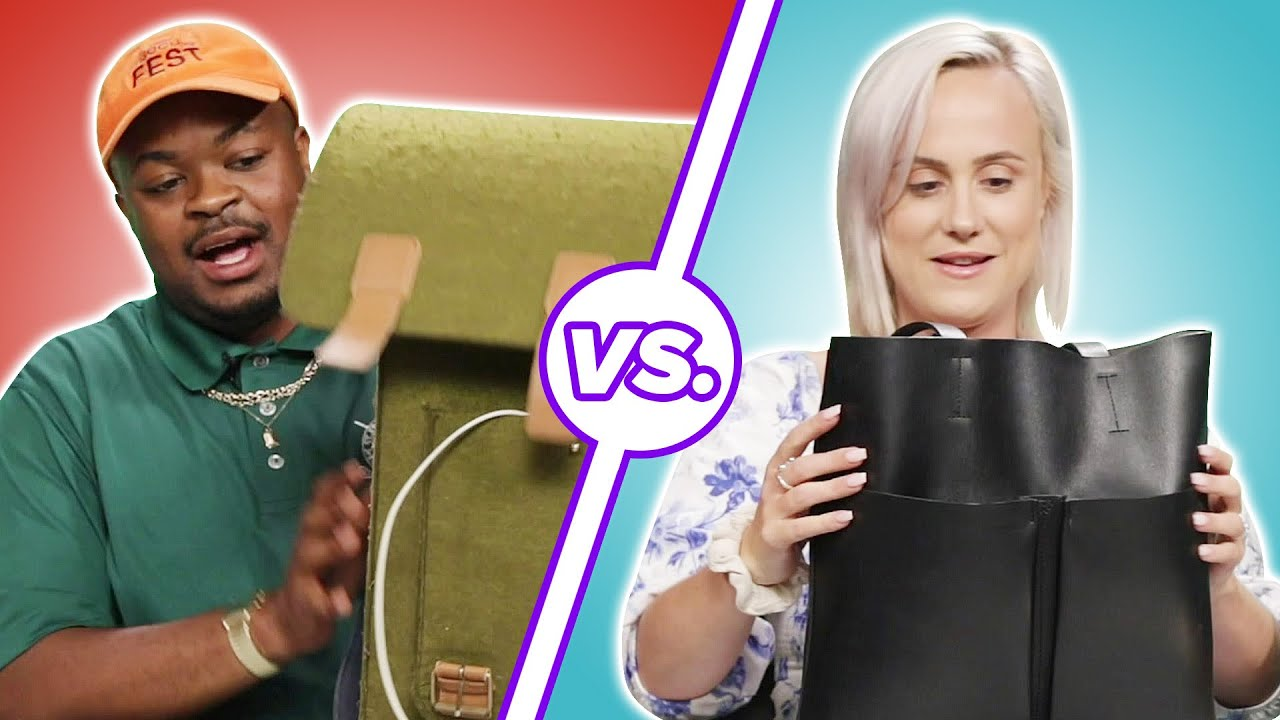 Men and Women Compare What's In Their Bags • Part 2 thumbnail