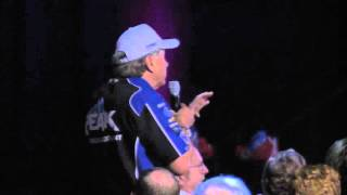 John Force asks Shirley Muldowney a special question at SEMA