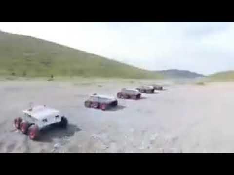 İran Ordusunun Terörist ve Kara Sınırı Tehditlerine Karşı Zırhlı İntihar Robotları
