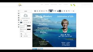 How to Create a Funeral Program and Thank you cards Tutorial