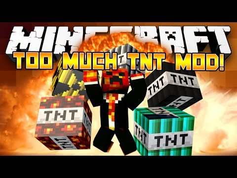 Minecraft Mods: Too Much TNT Mod! - (Mod Showcase Minecraft)