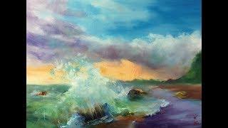 在微光中色彩從沙灘逸出到天空。