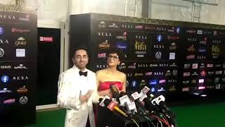 Ayushmann Khurrana With Wife Tahira Kashyap At IIFA Awards 2019 | SpotboyE