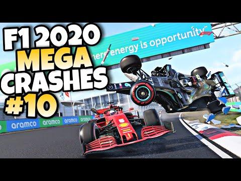 F1 2020 MEGA CRASHES #10