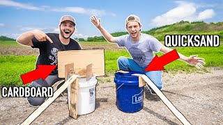 EPIC Homemade MOUSE TRAPPING Challenge!! (CARDBOARD vs QUICKSAND)