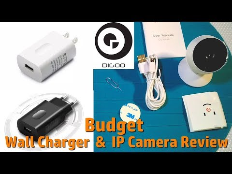 Digoo DB-MINI8 HD IP Cam and Wall Charger Unboxing, Test
