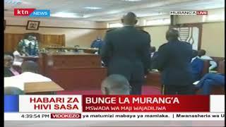 Mswada wa maji wajadiliwa katika Bunge la Murang'a   Mbiu ya KTN full bulletin Part 2
