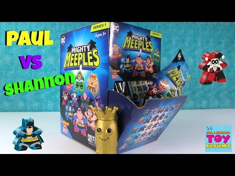 Paul vs Shannon Challenge DC Mighty Meeples Edition Blind Bag Opening | PSToyReviews