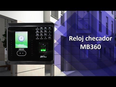 Reloj checador ZKTeco MB360 para control de asistencia facial - ZKMexico