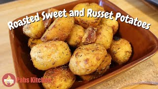 Aromatic Roasted Sweet and Russet Potatoes 🥔