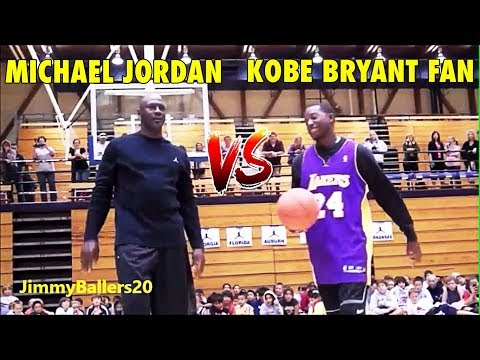 51 years old Michael Jordan vs. Kobe Bryant fan