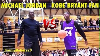 51 years old Michael Jordan vs. Kobe Bryant fan