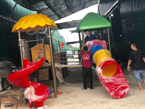 Video giới thiệu xưởng sản xuất đồ chơi ngoài trời Hà Huy