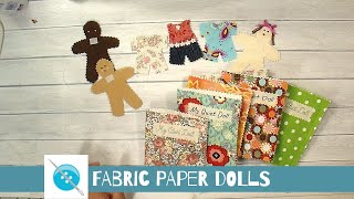 Fabric Paper Doll, A Sewing Tutorial, Great Childs Gift