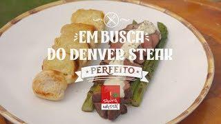 DENVER STEAK + molho de queijo + aspargos grelhados