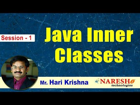 Inner Classes in Java   Session-1   by Mr. Hari Krishna - YouTube