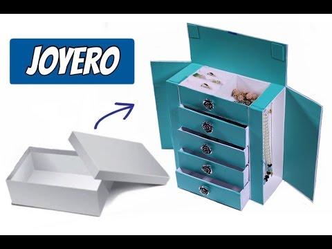 Joyero Hecho con Caja de Zapato/organizador de cartón