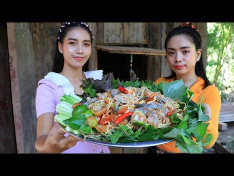 Wow cooking shrimp salad with mango fruit recipe