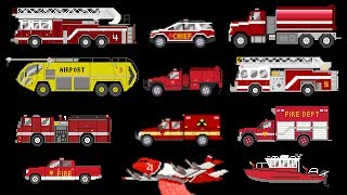 Fire Vehicles - Emergency Vehicles - Fire Trucks - The Kids Picture Show (Fun & Educational)