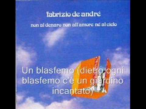 Significato della canzone Un blasfemo di Fabrizio De Andrè