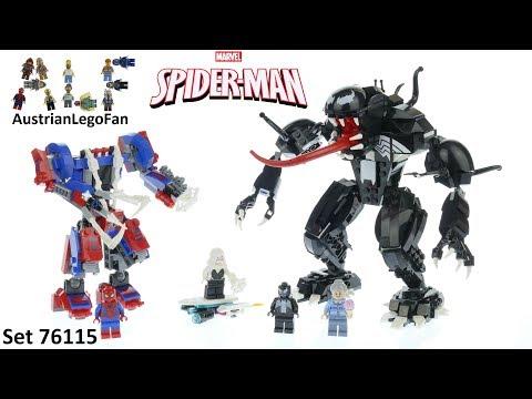 Vidéo LEGO Marvel Super Heroes 76115 : Le robot de Spider-Man contre Venom