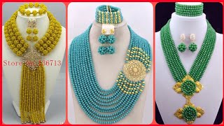 Best Handmade African Bead Necklaces Designs | African Beaded Necklace Jewelry For Women 2020