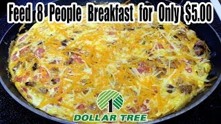 Dollar Tree $5.00 Breakfast Feeds 8 People for $.63 per Person - WHAT ARE WE EATING? - The Wolfe Pit