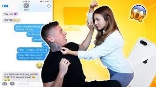 SIDE CHICK TEXT PRANK!!! (HUGE BACKFIRE)