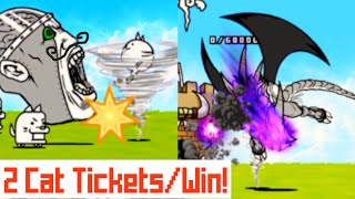 The Battle Cats | 15 Cat Tickets In ONE HOUR?! | Facing Danger (1)