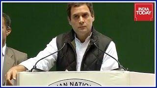 Exclusive  Rahul Gandhi Speaking At Congress Jan Vedan Sammelan