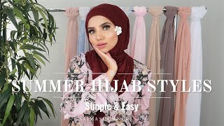SUMMER HIJAB STYLES   Simple & Easy   Breathable & Full Coverage + GIVEAWAY Ft. Voilechic