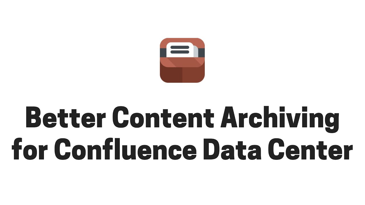 Running Archiving Plugin in Confluence Data Center