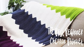 How To Crochet The Chevron Blanket Stitch • Best Crochet Chevron Blanket 4 Beginners!