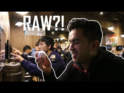 Eating RAW EGG in Tokyo?!
