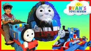 GIANT EGG SURPRISE OPENING Thomas and Friends Toy Trains
