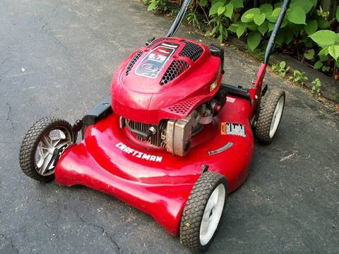 craftsman push lawnmower wobble after hitting rocks won t start
