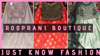 Celebrity Style Crop Top & Skirt And Salwar Collections | Rooprani Bridal Boutique | @ Just Know