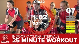 HIIT Workout - High Intensity Intervals | GCN 25 Minute Bike Session