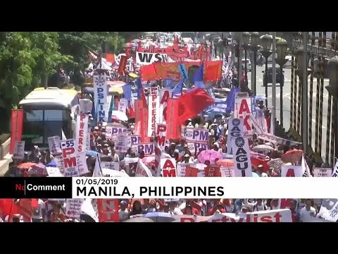 العرب اليوم - شاهد: عمال فلبينيون يطالبون الحكومة بتحسين أوضاع العمل