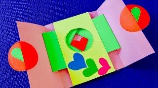 DIY crafts: Волшебная открытка на День Святого Валентина своими руками.Идеи Валентинок.