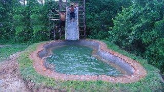 Build Underground Swimming Pool Slide