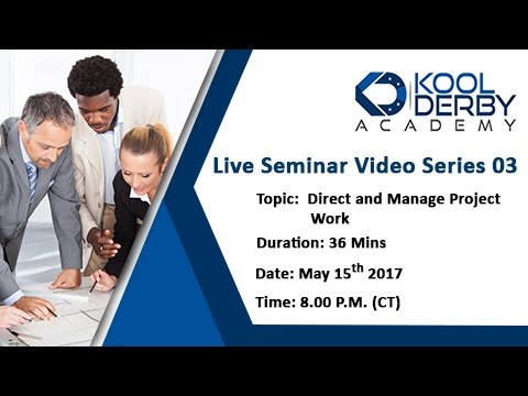 Kool Derby PMP / CAPM Webinar Series 03: How to pass PMP on the first try!