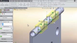 Solidworks 3D Modeling Hinges Tutorial Exercise 5 - Most