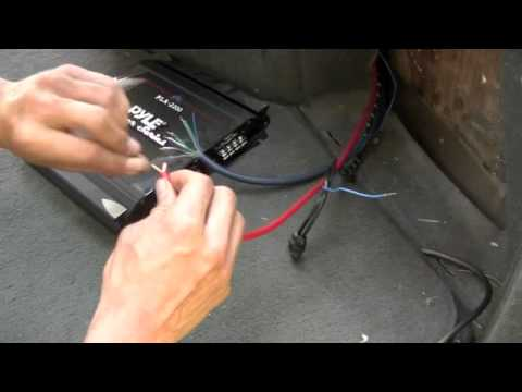Pyle Audio Chopper Series PLA 2200 Amp Install
