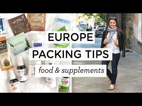 PACKING FOR EUROPE ‣‣ Vegan Food & Supplements