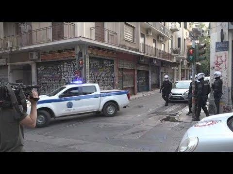 Εκκένωση κτιρίου υπό κατάληψη στην οδό Θεμιστοκλέους