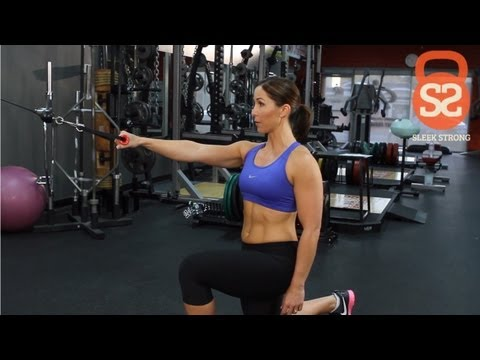 How to Do a Cable Lunge With Single Arm Row | Sleek/Strong With Rachel Cosgrove